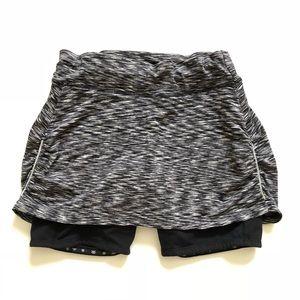 Athleta Skort Shorts Athletic Black Grey White
